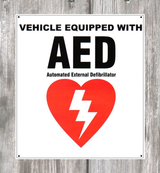 AED Vehicle Decal