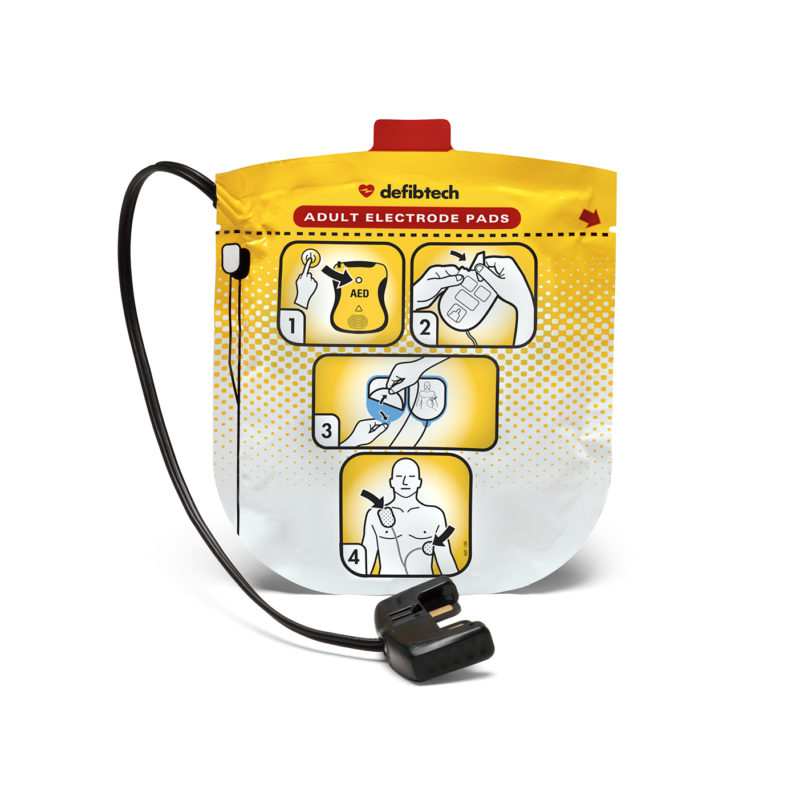 Defibtech Lifeline View Adult Defibrillation Pads Package