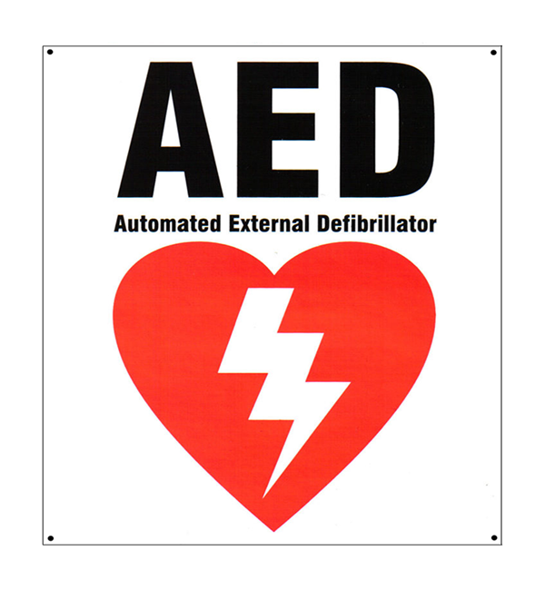 AED Defibrillator Wall Sign Priority First Aid