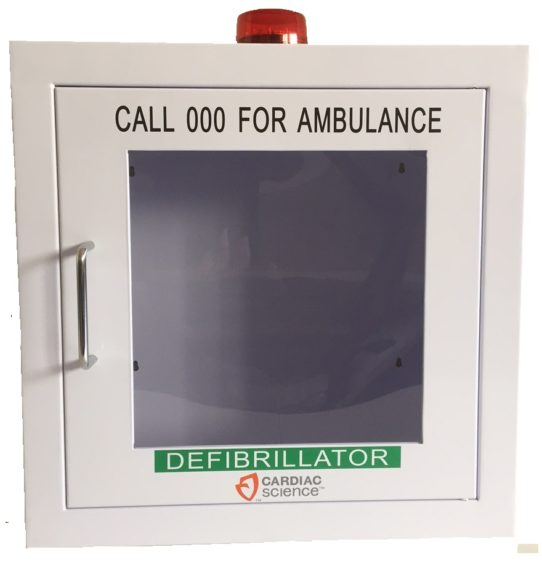 Cardiac Science AED Powerheart Wall Cabinet